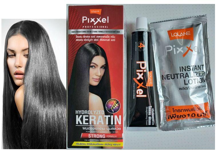 2 Pcs X Lolane Pixxel Professional Hair Straightening Cream Strong Formula Lolane