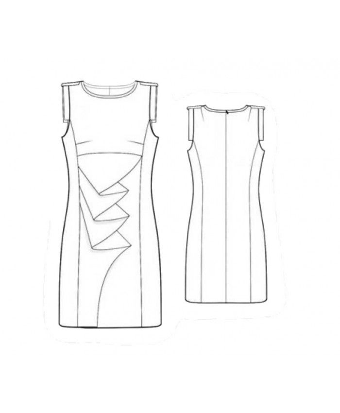 Custom-Fit Sewing Patterns - Origami Front Sheath | Sewing projects ...