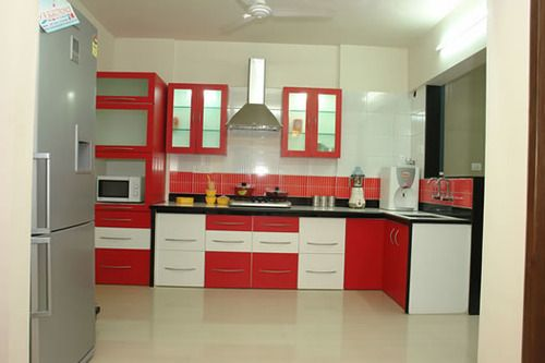 Modular Kitchen Design Red And White Pin By Kitchen.ind.in On Modular Kitchen India In 2019