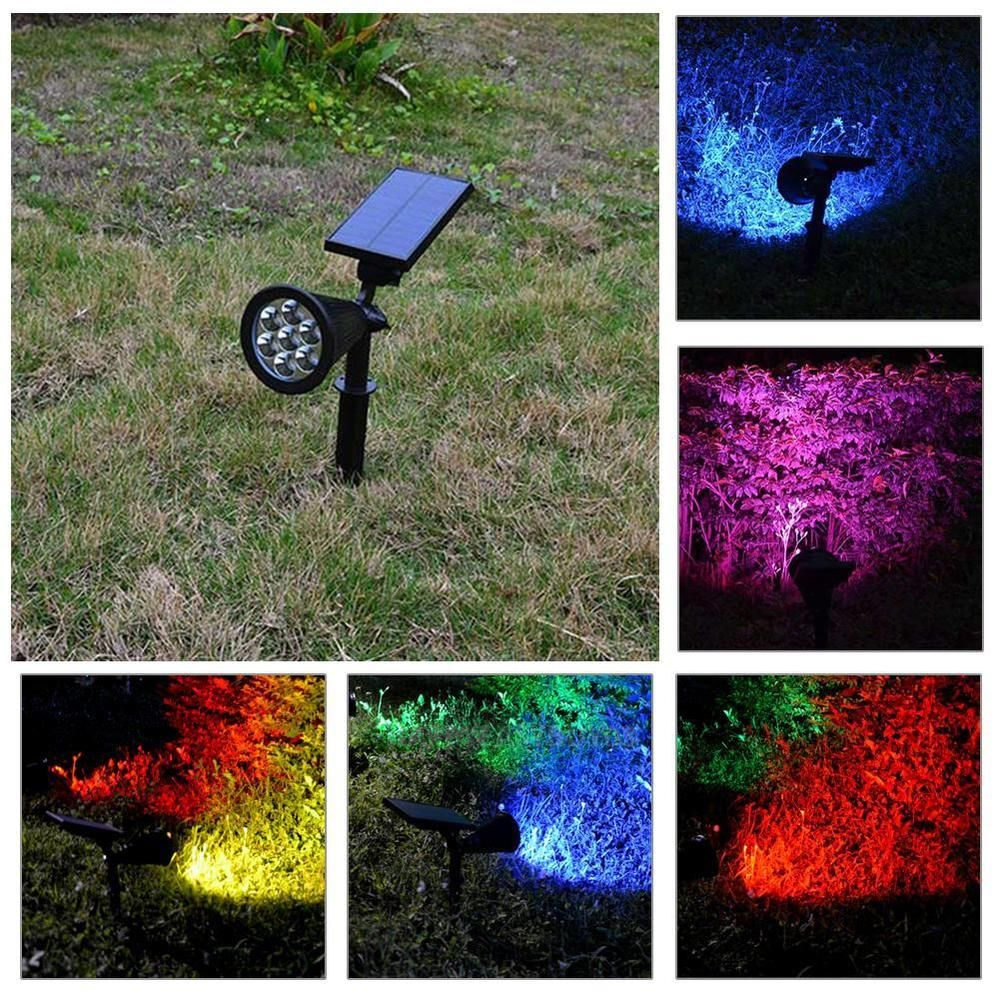 Strong Water Resistance The Solar Colored Spotlight Is Suitable