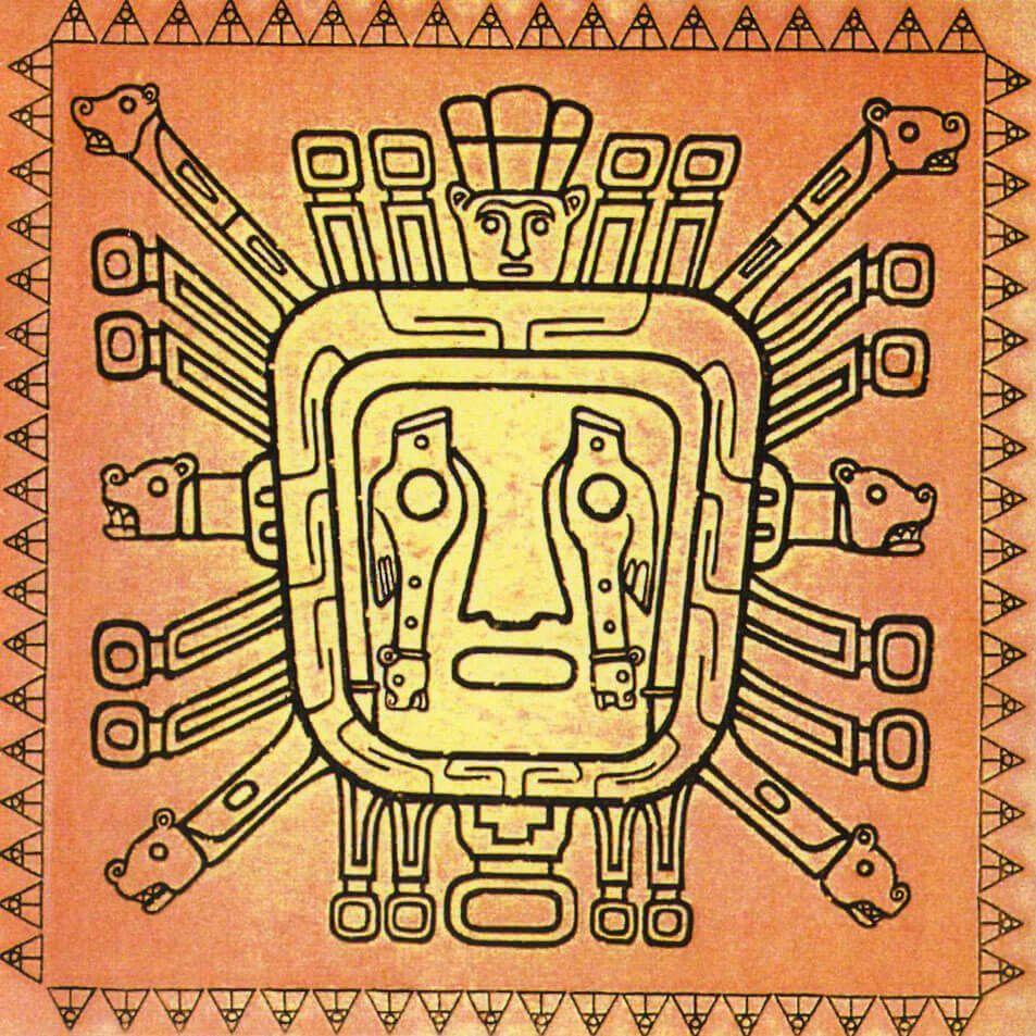 Los Canaris Buscar Con Google Wolf Tattoo Design Inca God Art