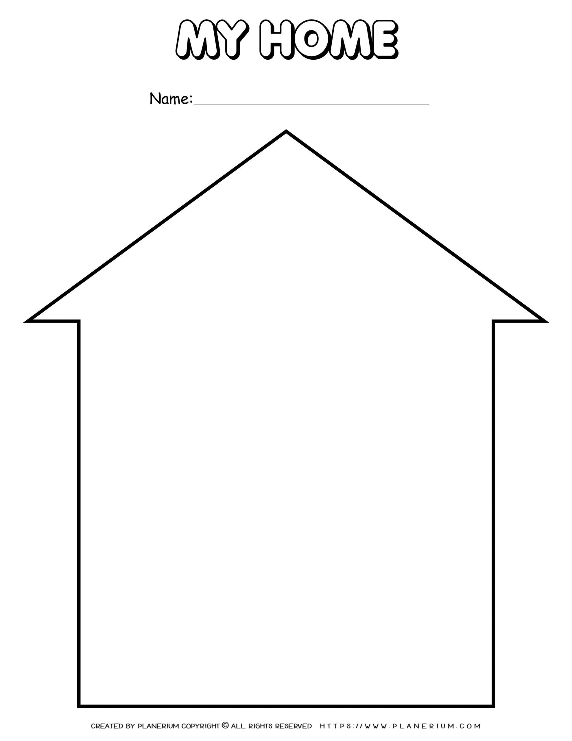 My Home Template Free Worksheets For Kids Worksheets For Kids Home Learning