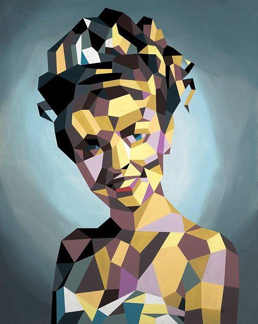 Laura Palmer vinyl on canvas by Tim Biskup