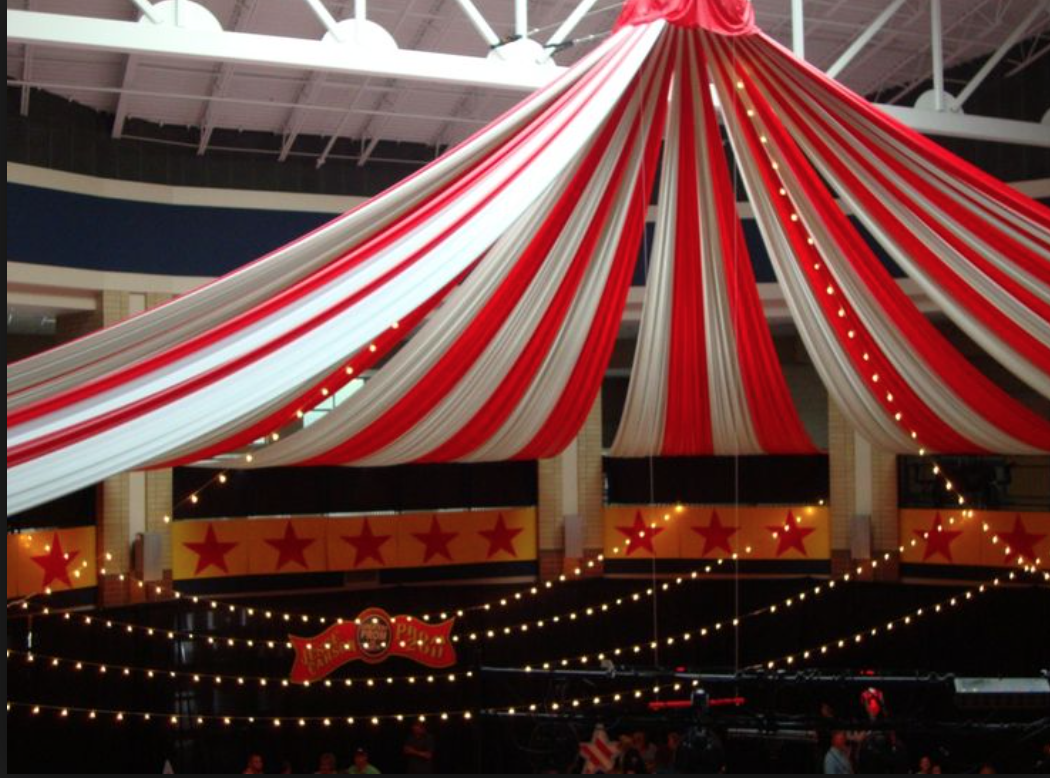 DIY carnival tent made from tablecloths! | Vintage Carnival | Pinterest | Carnival tent Carnival and Tents & DIY carnival tent made from tablecloths! | Vintage Carnival ...