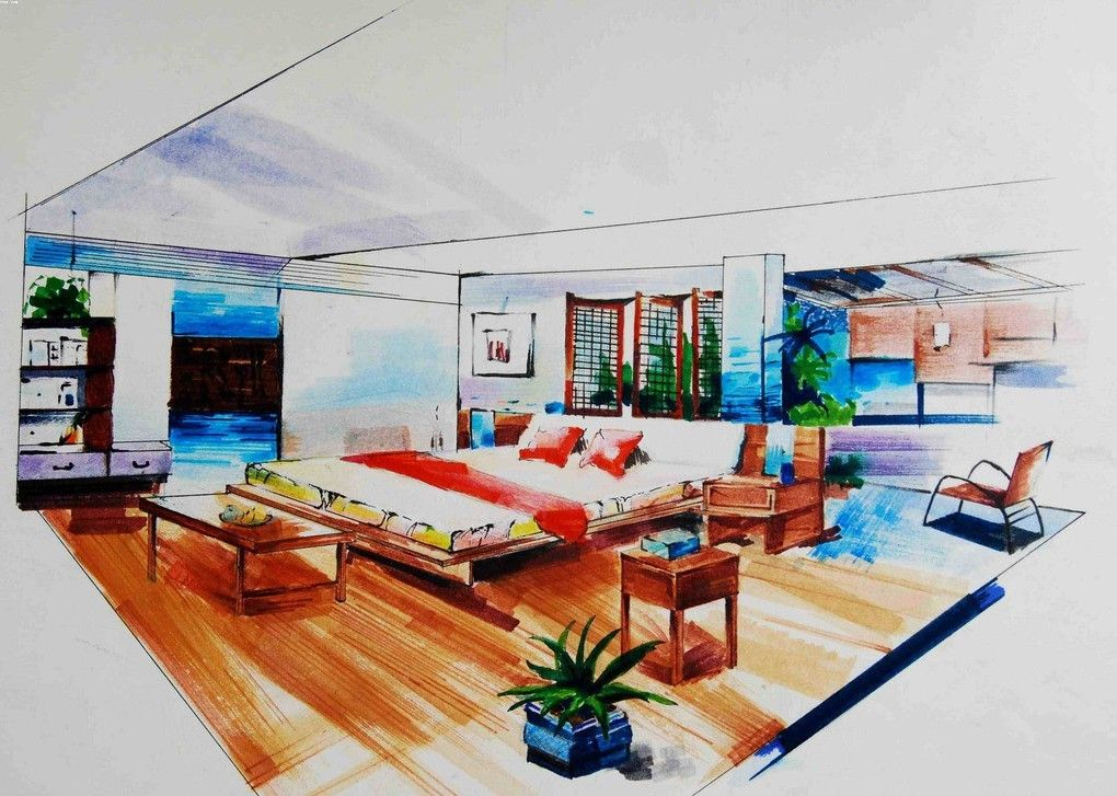 image for interior design hand drawings ideas