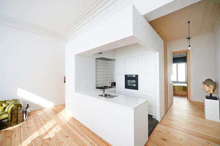 esempi cartongesso cucina soggiorno : la cucina dal soggiorno ... - Esempi Cartongesso Cucina Soggiorno