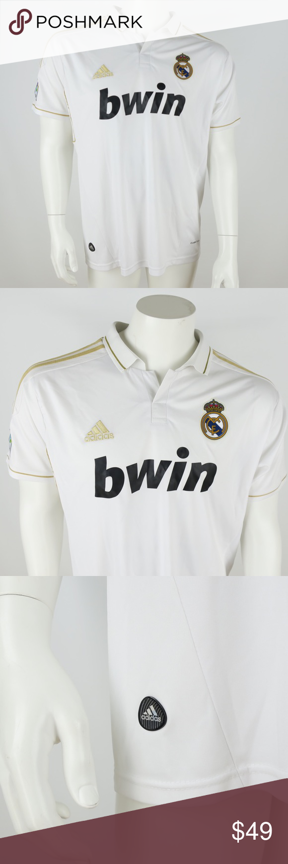 Adidas Real Madrid Polo Shirt Mens 7e296c2f8