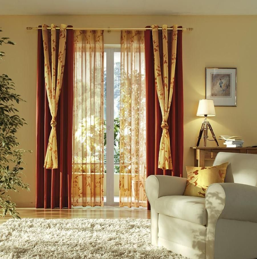 Layered curtains living room pinterest layered curtains