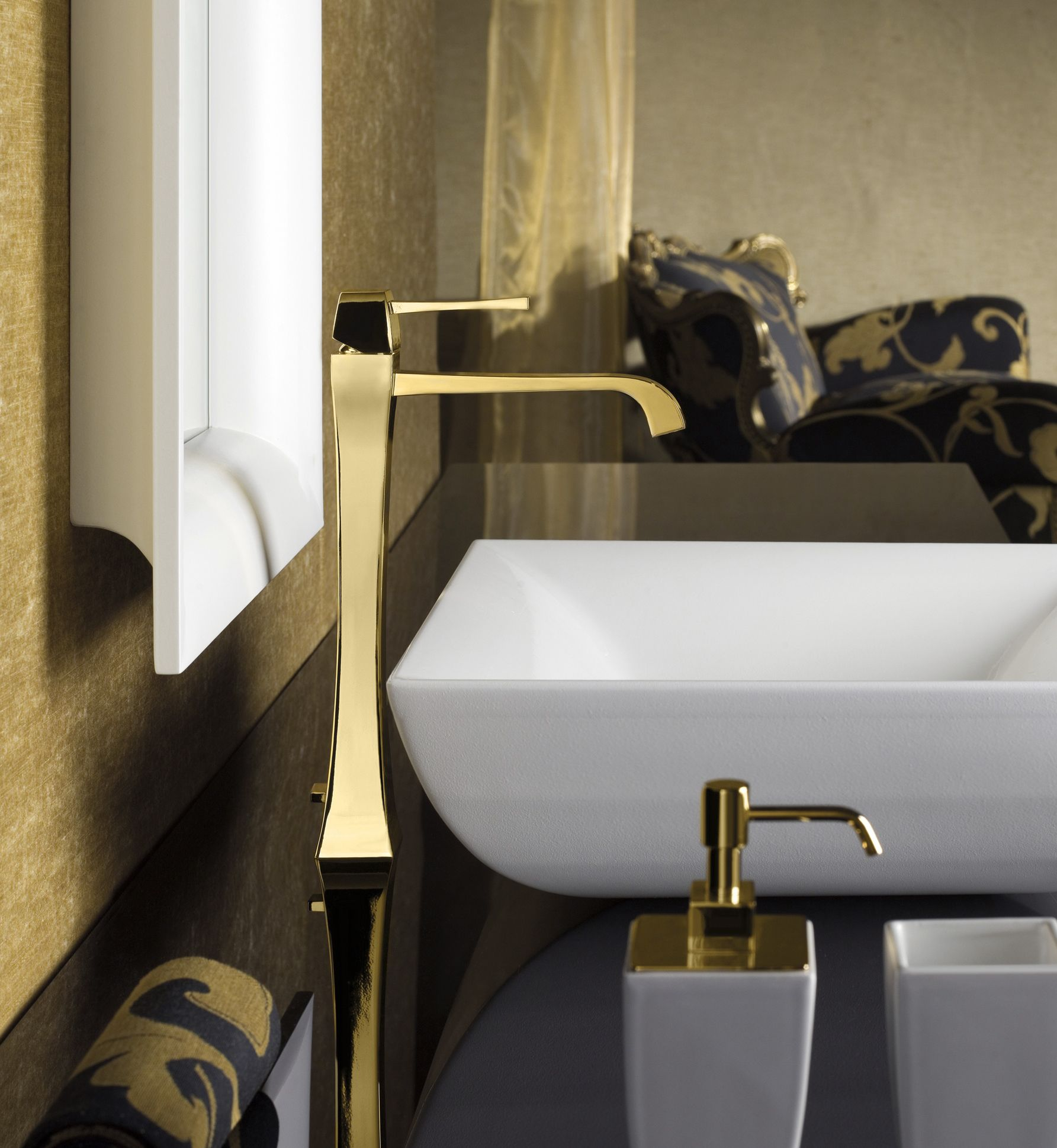 Gessi Mimi Gold Luxurious Digs Pinterest