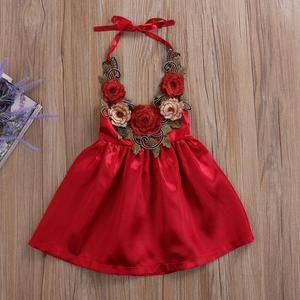 ccbd79b2917 Pudcoco Baby Girl Dress 2017 Cute Toddler Kids Baby Girls Party Flower  Sundress Formal 3d Dresses Clothes 0-5Y