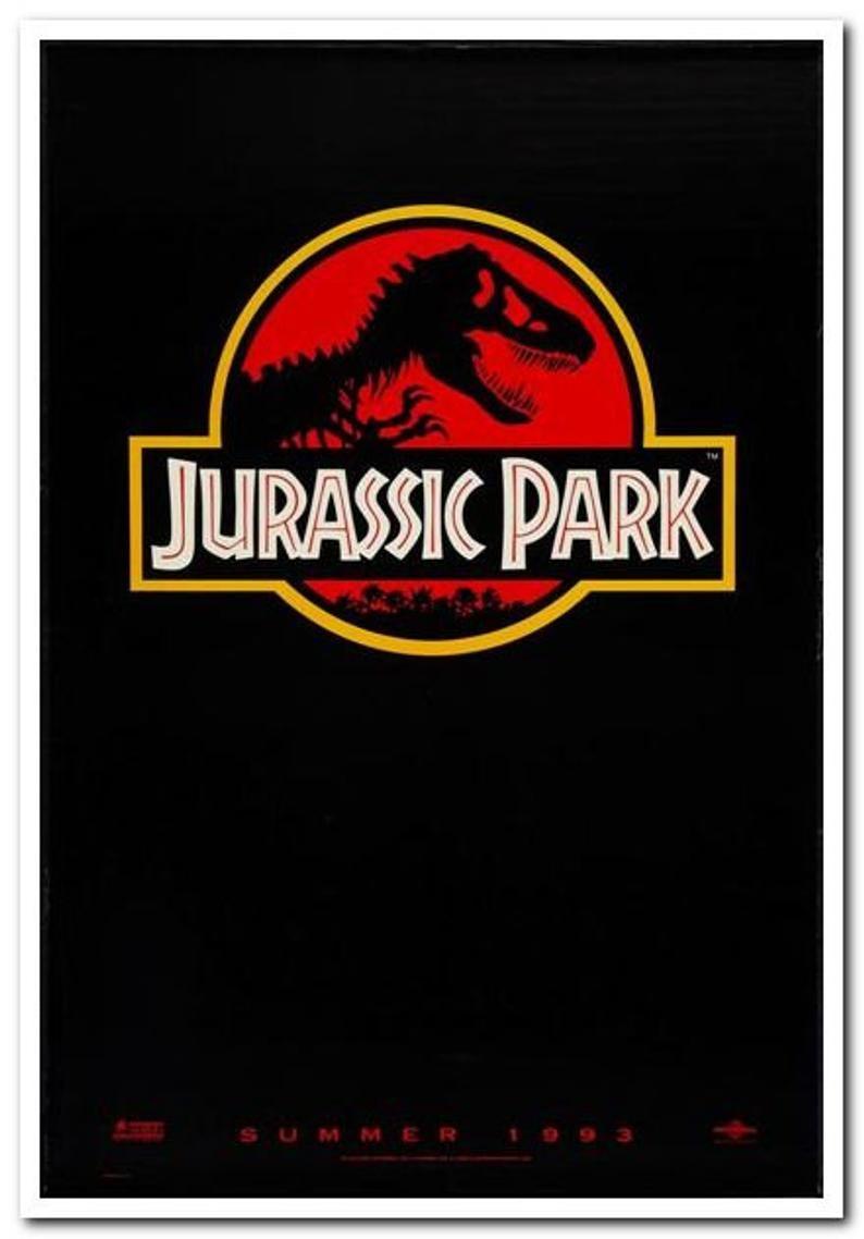 Jurassic park 1993 original rolled 1sheet movie