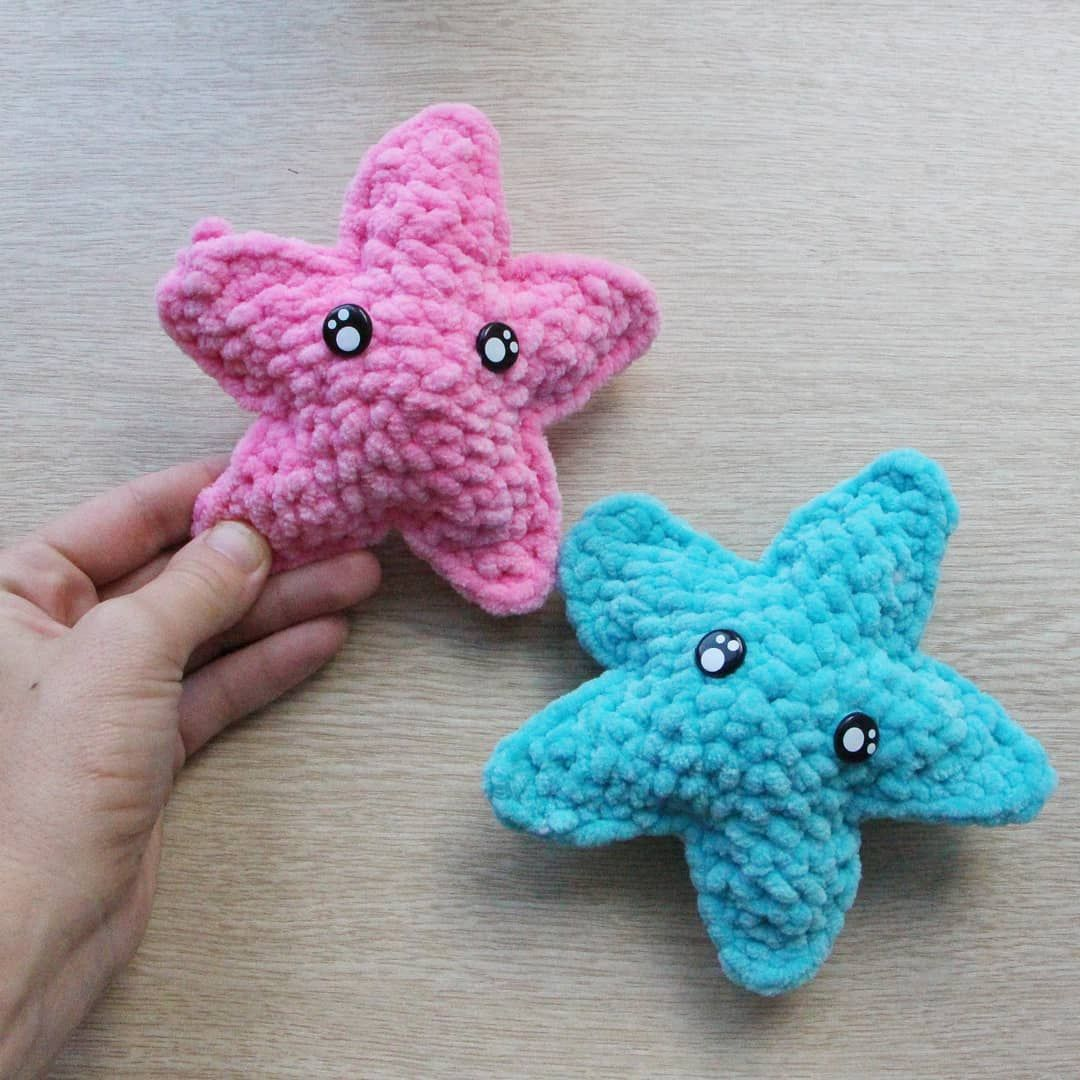 вязаная звезда звездочка амигуруми крючком плюшевые игрушки схема