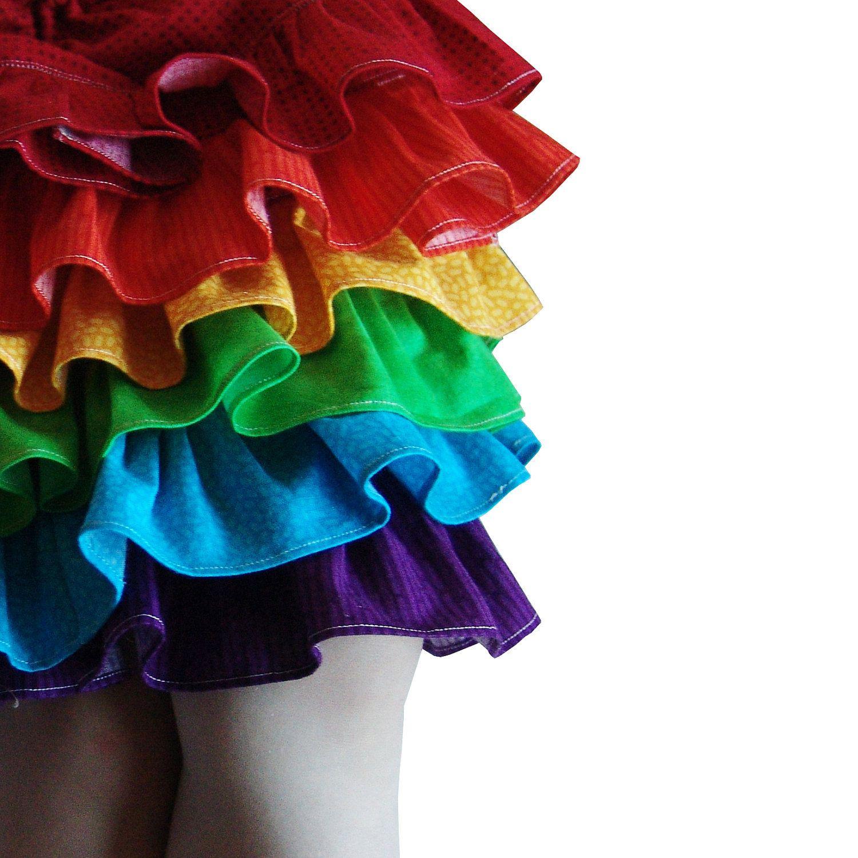 Rainbow skirt, ruffles, kids, toddler, party, colorful, bright, baby, fashion, birthday, vibrant, summer. $65.00, via Etsy.
