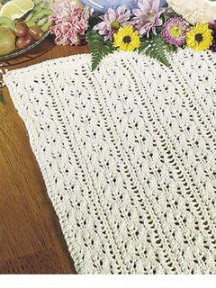 Summer Vines Table Runner Knitting Patterns Free Table Runner Pattern Knitting Patterns