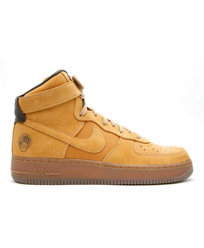 free shipping c5b29 284ca Air Force Hi Premium Bobbito Sanded Gold, Sanded Gold-Wheat 318431-771