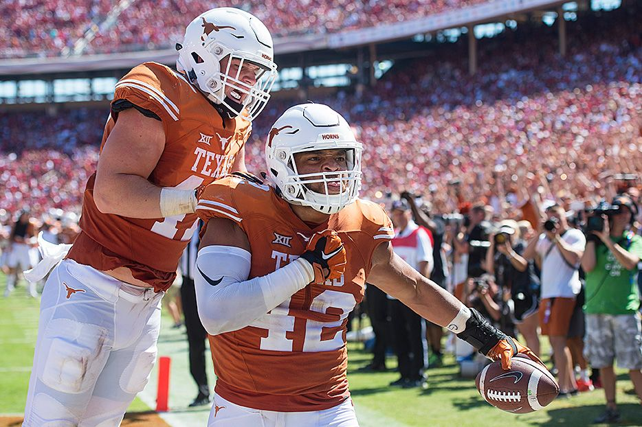 TE Caleb Bluiett Texas longhorns football, Texas
