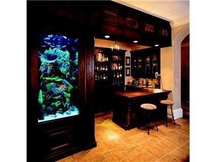 Cool bar & aquarium!