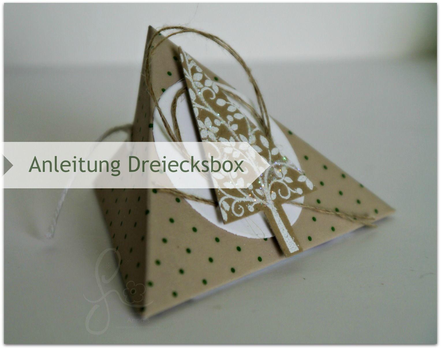 bebilderte anleitung dreiecksbox verpackungen pinterest weihnachtlich verpackt geschenke. Black Bedroom Furniture Sets. Home Design Ideas