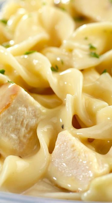 Quick Creamy Chicken Noodles Campbell Soup Company Recipe Creamy Chicken And Noodles Chicken Noodle Recipes Chicken Recipes