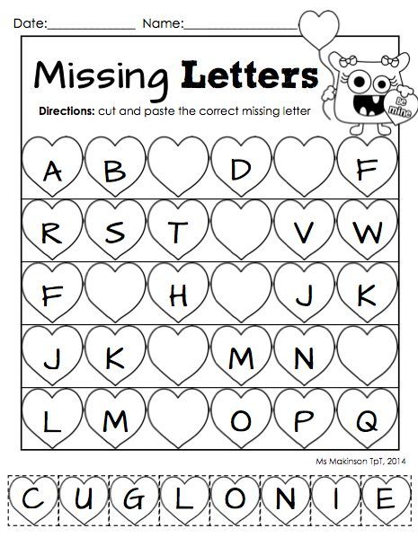 graphic about Preschool Valentine Printable Worksheets titled February Printables - Kindergarten Literacy and Math