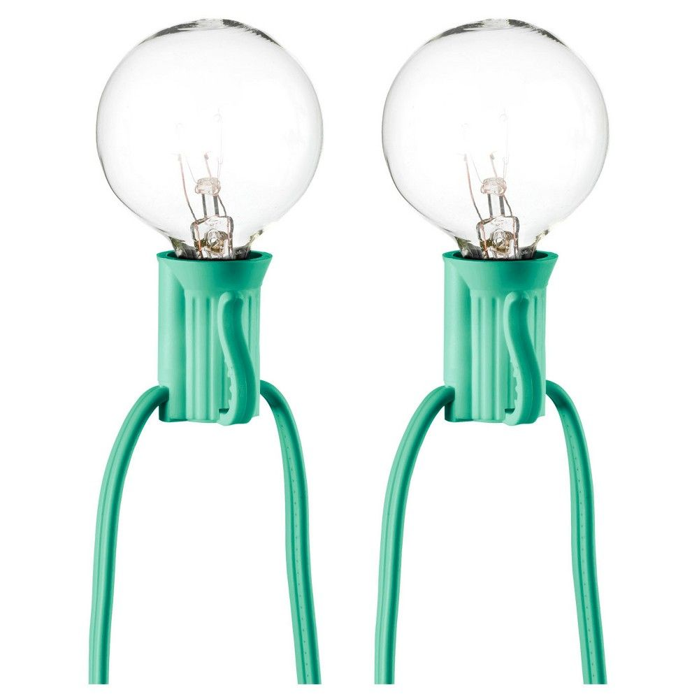 25ct clear globe string lights turquoise string room essentials