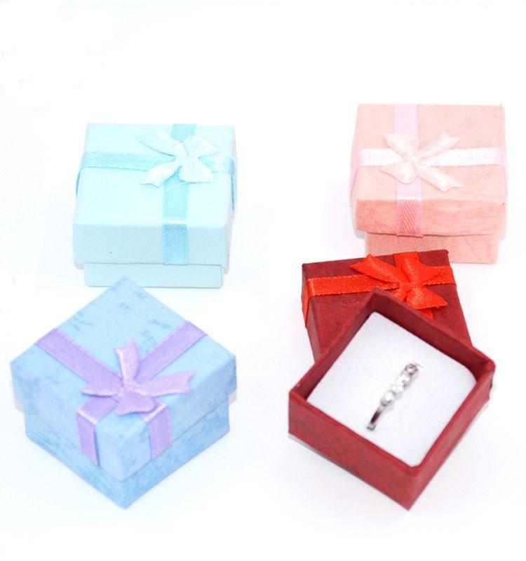 Fashion Colorful New Jewelry Organizer Box Rings Storage Cute Box