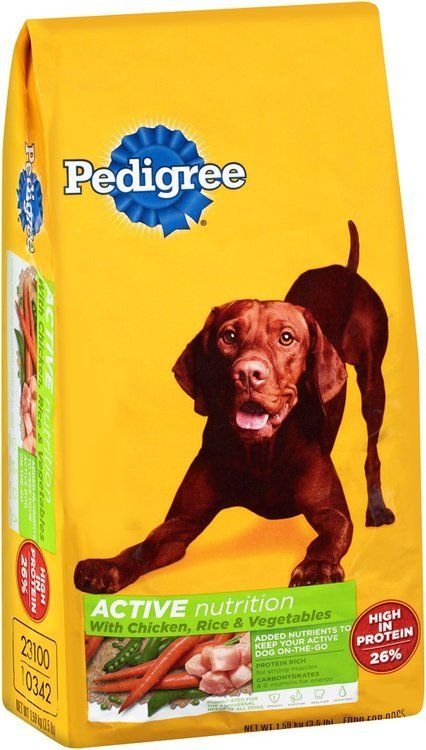 Pedigree Active Targeted Nutrition Dry Dog Food 3 5 Lb Bag Dog