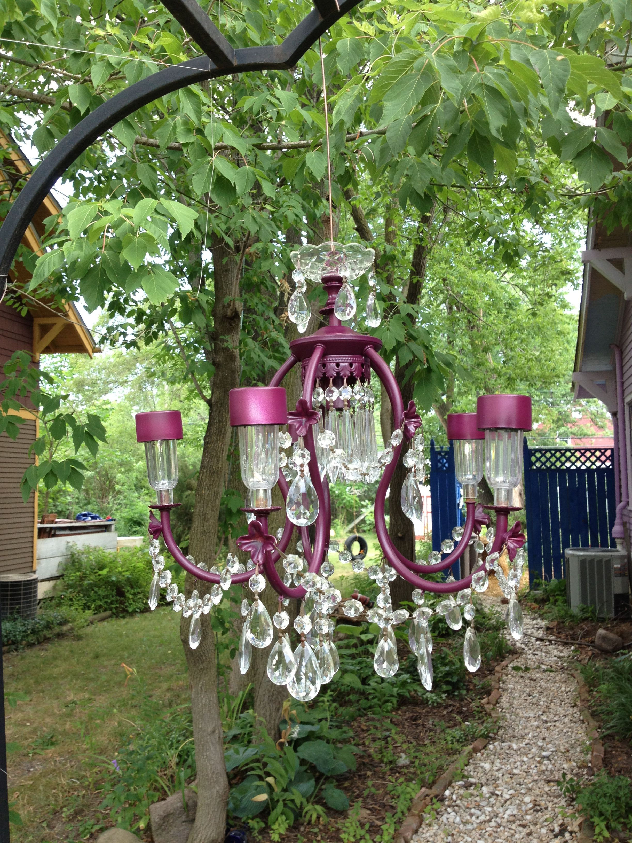 solar powered chandelier on pin by tereasa madson on outdoor living garden decor projects solar chandelier glass garden art pinterest