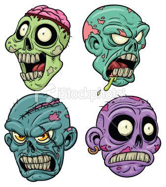Zombie Heads Zombie Cartoon Zombie Drawings Zombie Illustration