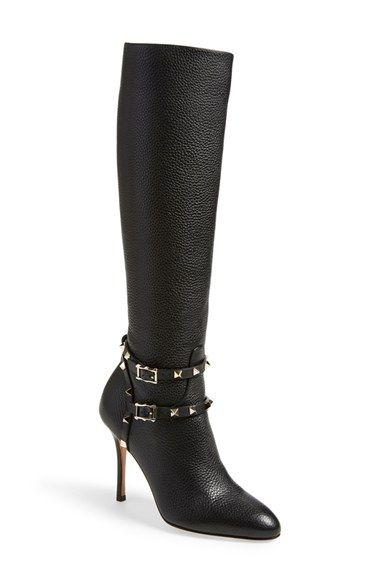 Valentino Rockstud Almond Toe Boot
