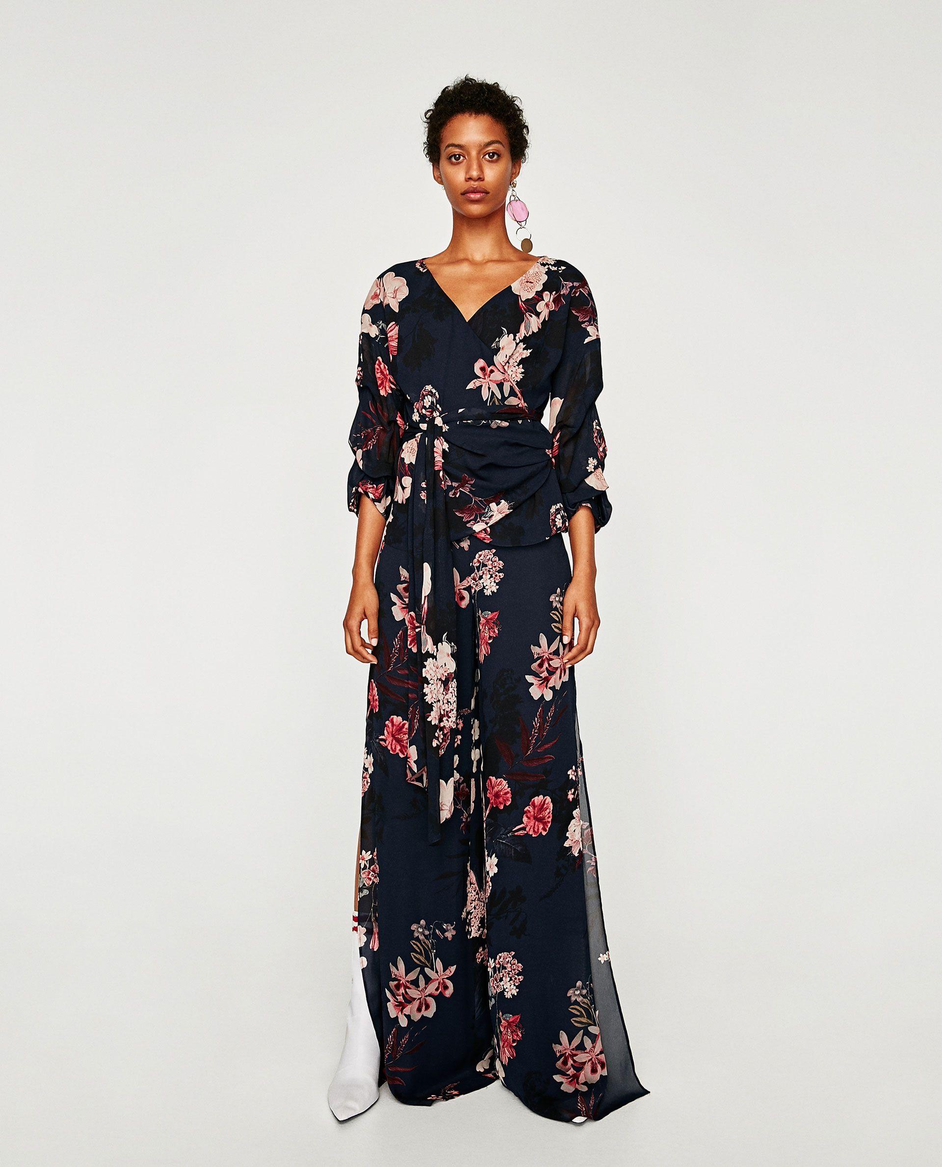 2e5d99469f6 BLUSA CRUZADA ESTAMPADO FLORAL | | style | Printed trousers, Wrap ...