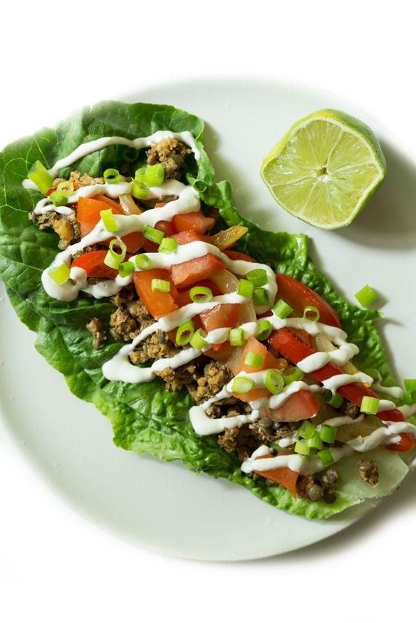 Ultimate Green Taco Wraps With Lentil Walnut Taco Meat Vegan Gluten Free Recipe Raw Food Recipes Whole Food Recipes Recipes