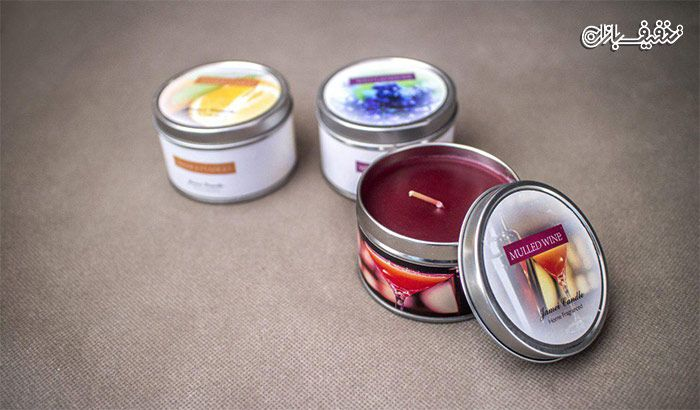 شمع معطر قوطی Gamei Candle با ۲۸ تخفیف و پرداخت ۱۱۵۰۰ تومان به جای ۱۶۰۰۰ تومان Glassware Tableware Kitchen