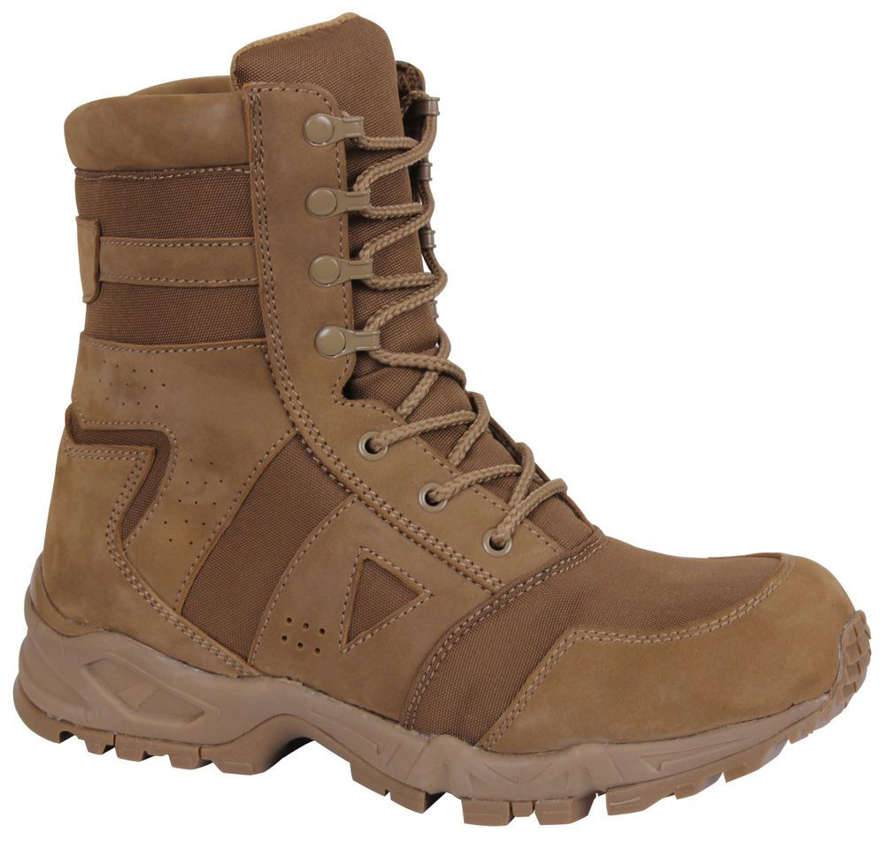 Ar 670 1 Forced Entry Boots Coyote Tactical Us Army Boot 8 Rothco 5361 Ebay Tactical Boots Boots Army Boot