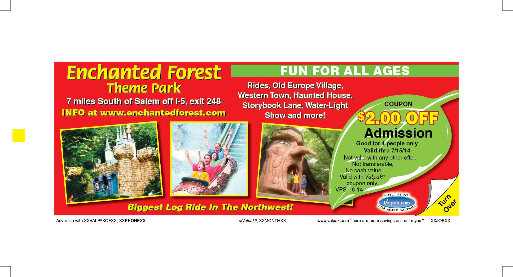 Enchanted Forest Coupons and Deals