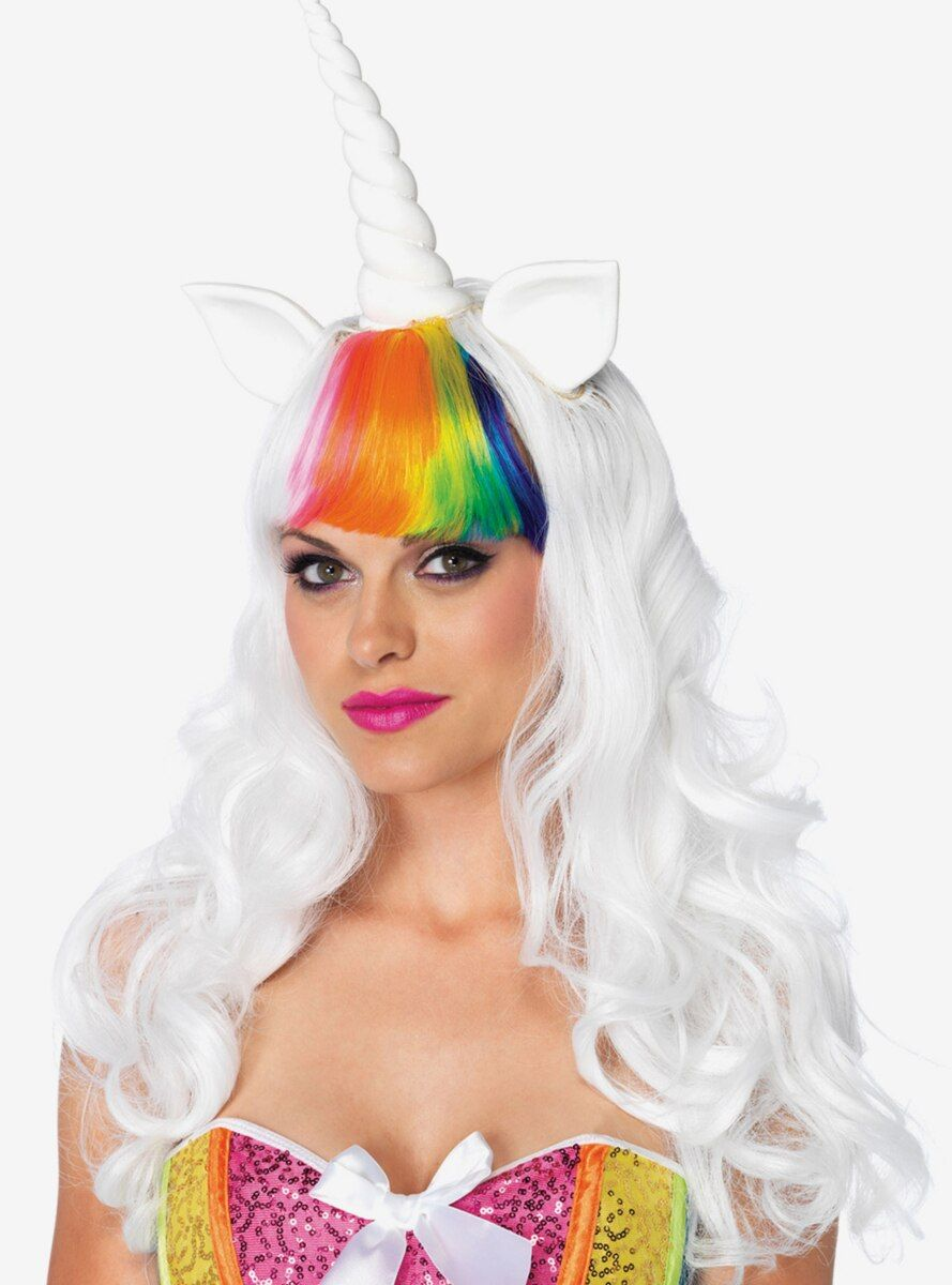 Comes with Unicorn wig and Rainbow tail.