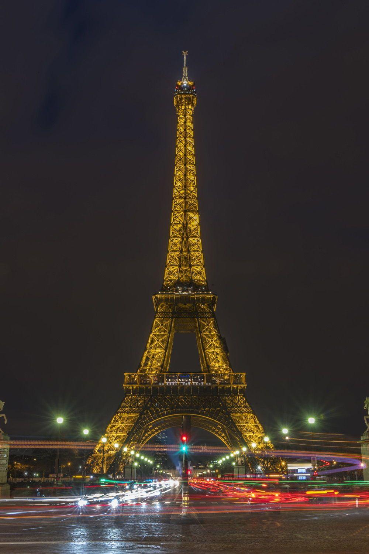 Eiffel Tower Night Lights Eiffel Tower At Night Travel Eiffel Tower
