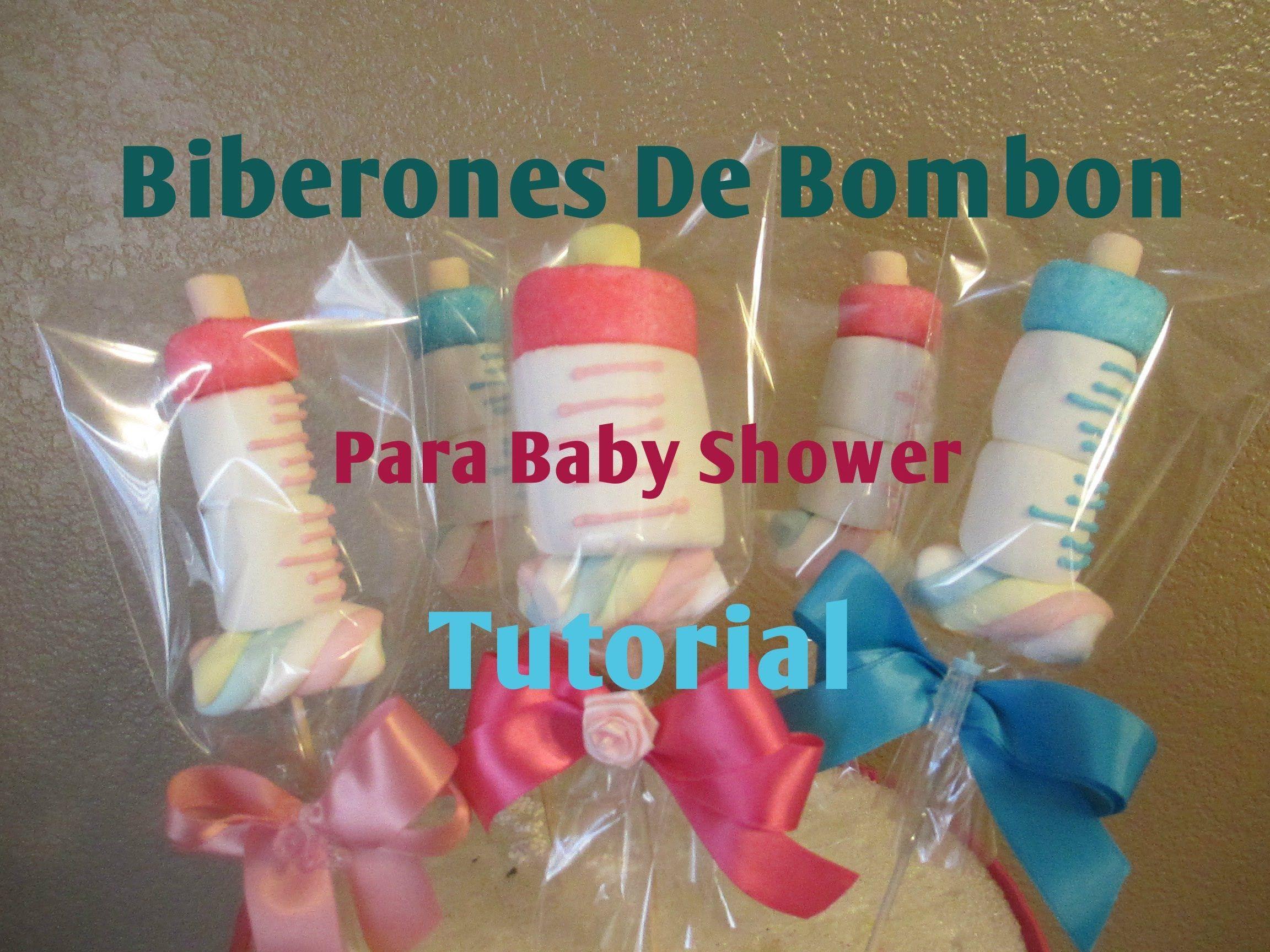 Mamila biberon en bombon para baby shower muy facil 2 - Ideas para baby shower de nino ...