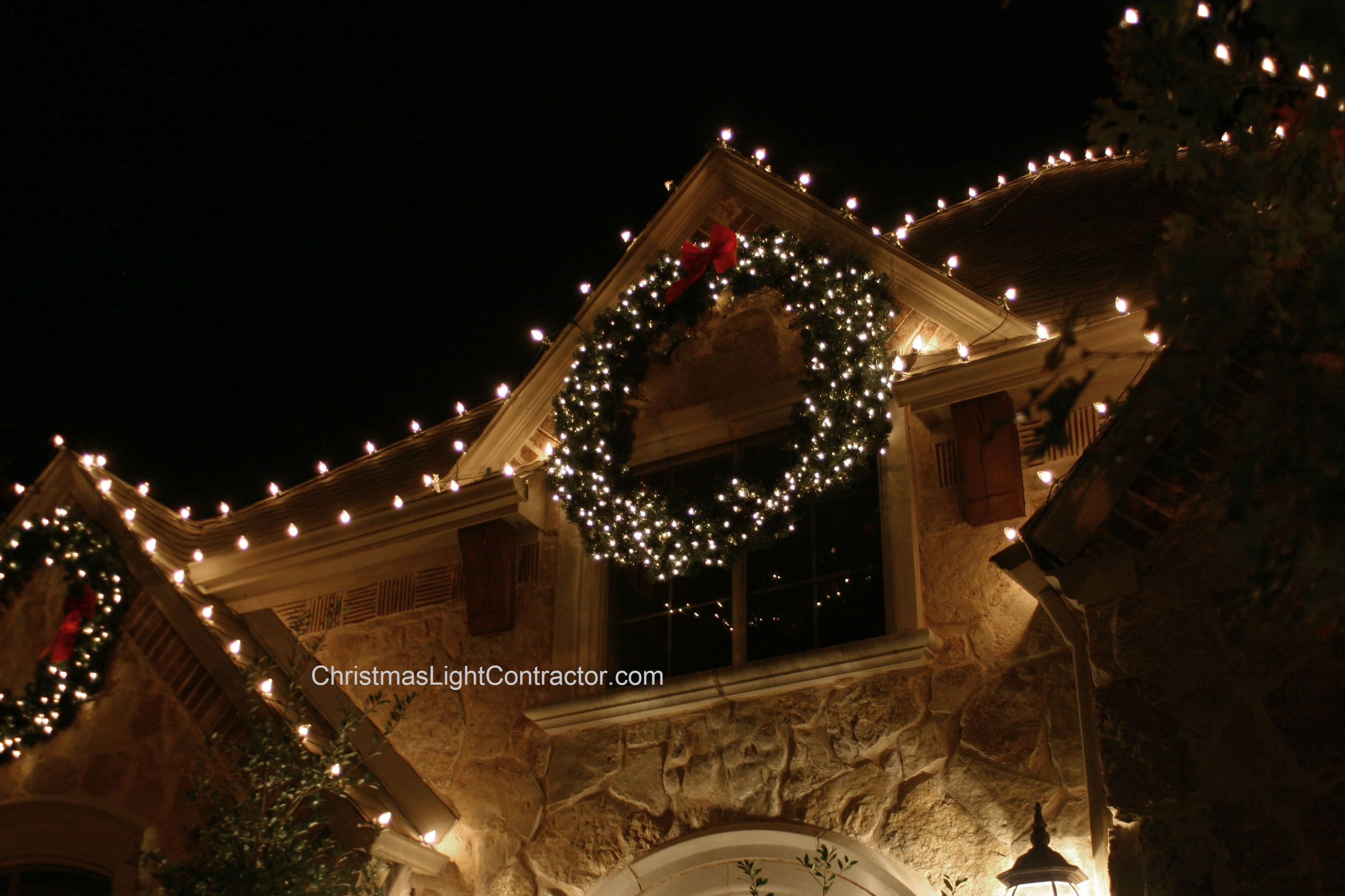 Christmas Wreath Lighted Outdoor | Home Design