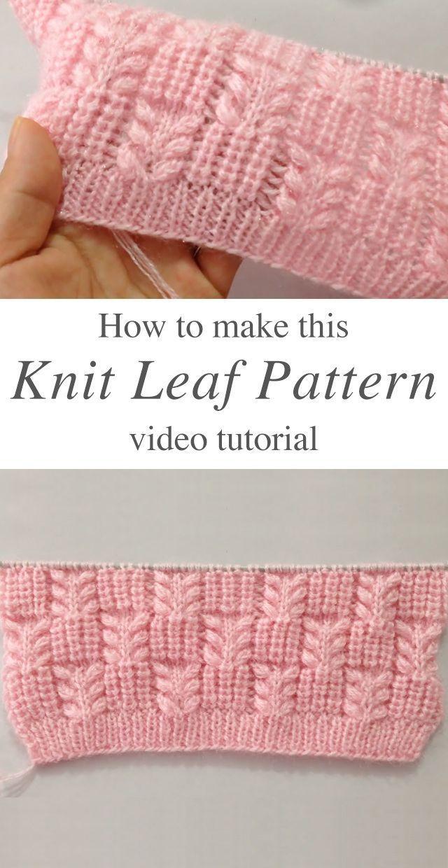 Modèle de feuille de tricot que vous pourriez apprendre facilement – Modèle sans crochet – Agli – Stric …   – Stricken ideen