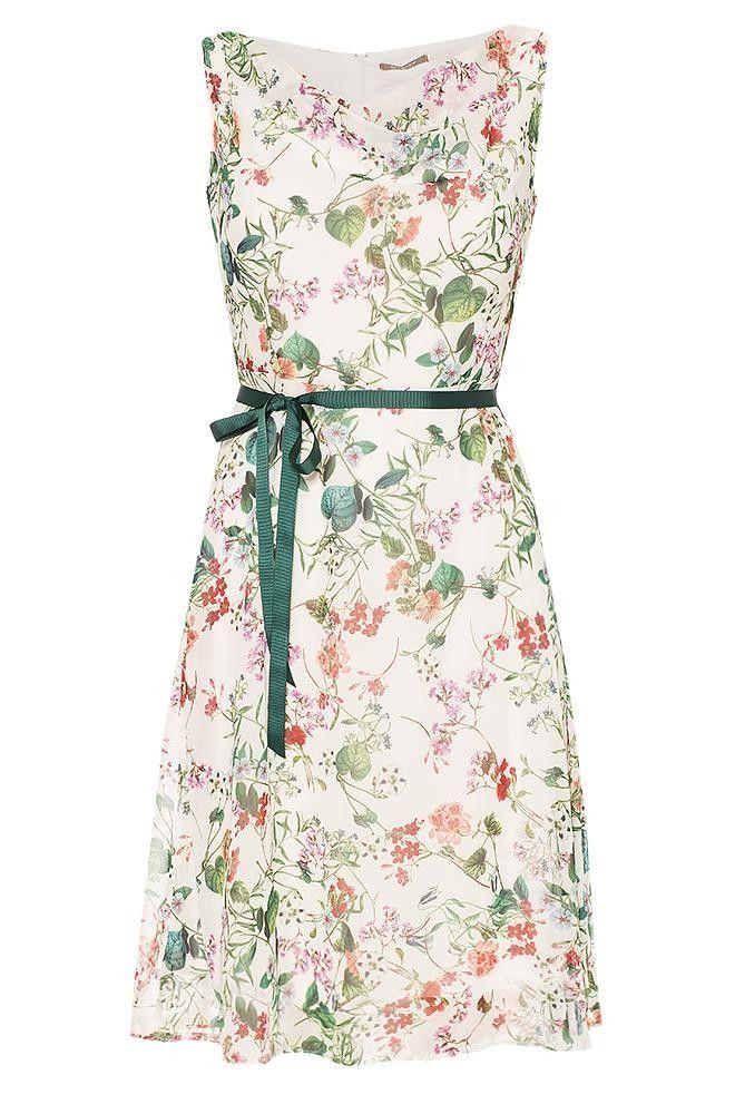 Orsay Kleider Kleid Mit Blumen Print Kleid Blumen Kleider Damen Burokleidung