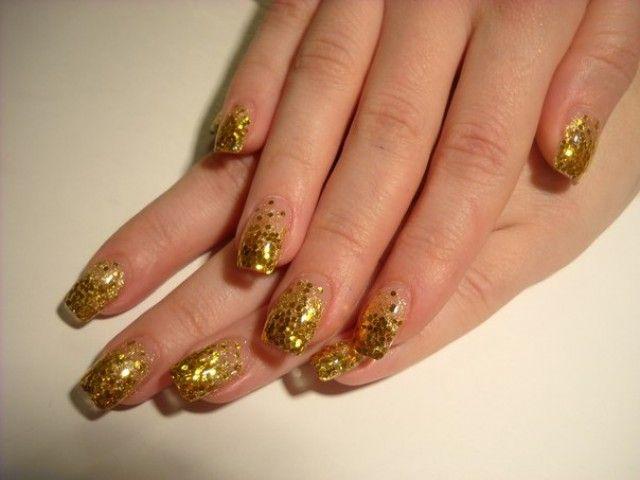 Gelnagel Braun Gold Nageldesign Bilder By World Nails Nailart