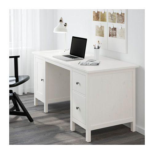 Hemnes Bureau Teinté Blanc Bureau Blanc Ikea Bureau