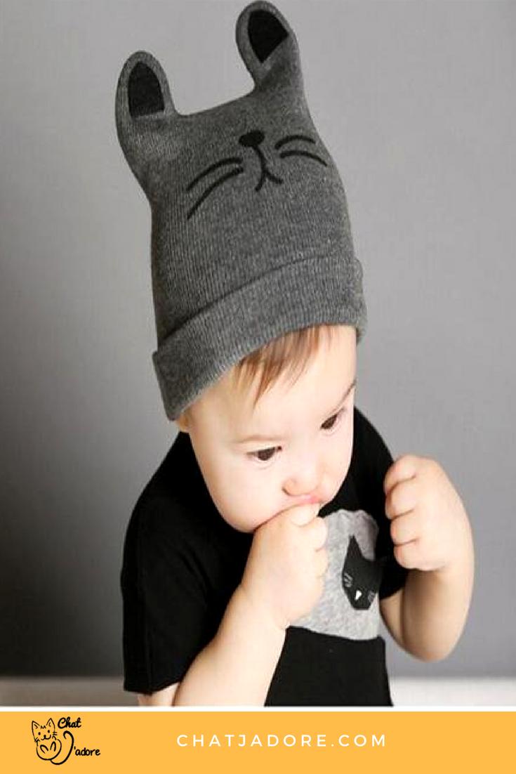 Winter Baby Hat Kids Cartoon Cat Beanie Tricot Chaud Bonnet pour Nouveau-né Filles Garçons