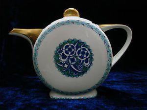 Limoges, France TLB-TOUZE, LEMAITRE & BLANCHER Art deco teapot