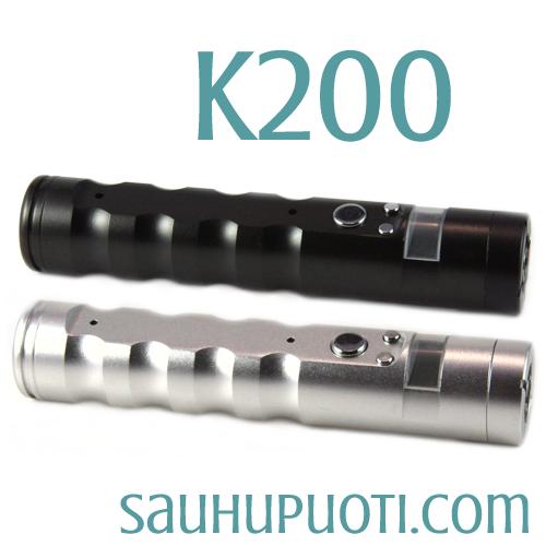 K200  modi jossa 5 klikkauksen turvalukitus. Volttien määrää voidaan säätää 0.1V askelin. Näytön tastavalolle on valittavissa 7 eri vaihtoehtoa...