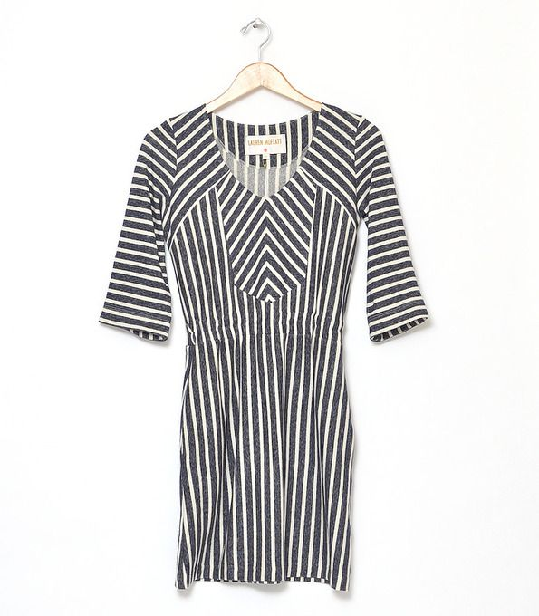 Skytop Dress by Lauren Moffatt -- love the stripes play