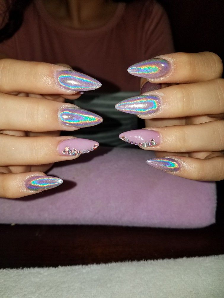 Uñas Efecto Unicornio Uñas Nails Acrylic Nails Y How To Do Nails