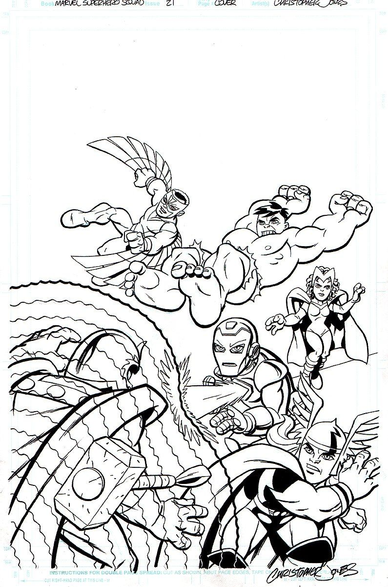 Marvel Superhero Squad Coloring Pages - Superhero Coloring Pages ...