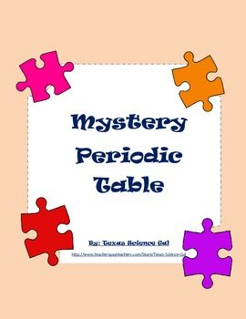 Mystery periodic table free science teaching resources mystery periodic table free urtaz Images